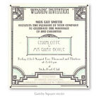 Square flat * GREAT GATSBY *  WEDDING INVITATION STATIONERY sample Art Deco