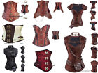 Gothic Retro Lace up Boned Brocade Steampunk Corset bustier basques Top