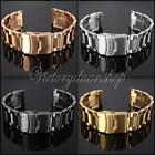 20mm Stainless Steel Watch Band Strap Double Lock Flip Bracelet Straight End -US