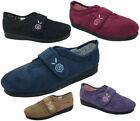 Ladies Slippers Panda Edythe Denim or Lavender Cherise Velcro Slipper Size 5-10