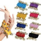 2X Belly Dance Bollywood Dancing Coins Wrist Ankle Arm Bracelets Cuff Match