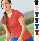 CW23 Champion Women's V-Neck Double Dry Short Sleeve Tee Shirt T-Shirt New!