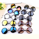 Vintage Round Mirror Lens UV400 Sunglasses Women Men Unisex Glasses Fashion+Case