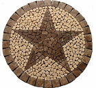 R Cafe au Lait TEXAS STAR MOSAIC MARBLE MEDALLION FOYER BACKSPLASH FLOOR BATH BA
