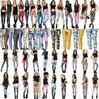 New Pattern Women 3D Print Leggings Stretchy Jeggings Pencil Pants Trousers