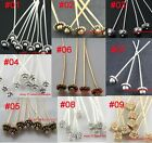 Fashion New 20pcs Golden/Silver Long Head Pins Finding For DIY