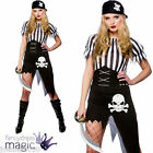 LADIES CAPTAIN WENCH SHIPWRECKED PIRATE FANCY DRESS PARTY COSTUME BOOK WEEK DAY