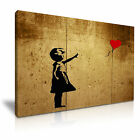 BANKSY Balloon Girl Hope Modern Graffiti Wall Art Framed Canvas Print ~ 1pc