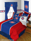 Chicago Cubs Comforter Bedskirt Sham & Valance Set Twin Full Queen King