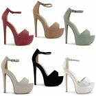 NEW SEXY LADIES HIGH HEEL PLATFORM EVENING PARTY STYLISH SANDALS SHOES SIZE 3-8