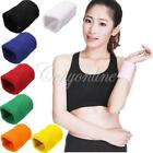 Unisex Gym Cotton Wristband Arm Wrist Band Terry Cloth Sweatbands 7 Colors