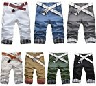 Men's Shorts Chino Cargo Cotton Casual Summer Work Combat Pants Trousers