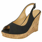 LADIES SPOT ON WEDGE SANDALS STYLE - F10130