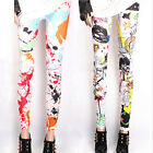 Skinny Colorful Punk Funky Leggings stretch crayon Collants Pantalons femme sexy