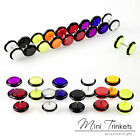 Mens Women Neon Surgical Steel Fake Plug Stud Barbell Stretcher Earrings Present