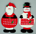 SOFT FABRIC FELT HANGING 64CM FUN NOVELTY CHRISTMAS ADVENT CALENDAR DECORATION