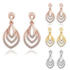 Shining Lady 18K Rose Yellow White Gold Plated Euramerican Style  Earrings
