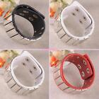 FASHION PUNK COOL STUD RIVET FAUX LEATHER BRACELET BANGLE WRISTBAND UNISEX