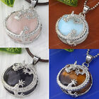 HOT Fashion Jewelry Dragon Wrap Chakra Gemstone Pendant Bead SP Necklace Gift 1x