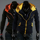 New Mens Long Sleeved Sweater Hoodie Jumper Sweatshirt Jacket Coats Tops outwear