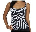 Liz Claiborne New York Animal Print Tankini Top A225805
