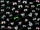 10 Pcs Alloy Jewelry 3D DIY Rhinestone Nail Art Glitters Slices #083V