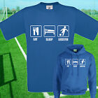 EAT, SLEEP, LEICESTER FOOTBALL T SHIRT / HOODIE - KIDS ADULTS  TOP