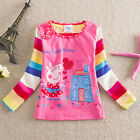Peppa pig sweet home long sleeved 100% cotton pink top (18Months-6Years)