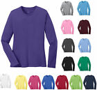 LADIES LONG SLEEVE, CLASSIC CREWNECK, PRESHRUNK COTTON T-SHIRT, XS-L XL 2X 3X 4X