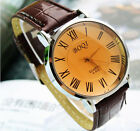 Luxury Casual Mens PU Leather Quartz Analog Hand Casual Sport Wrist WatchKWEUM