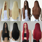 28'' Womens Lady Long Straight Hair Full Wig Wigs No Bang Cosplay Party Costume
