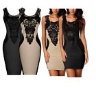NEW Fashion Women Lace Sleeveless Slim Bodycon Dress Fit Cocktail Evening Party