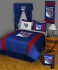 New York Rangers Bed in a Bag Twin to King Comforter Set