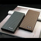 Superior Men's CHIC Design Billfold Leather Long Style Check Card Wallet UK EW