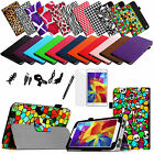 For Samsung Galaxy Tab 4 Nook 7-Inch PU Leather Case Cover Protector 7in1 Bundle
