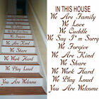 LARGE STAIR STAIRS IN THIS HOUSE RULES YOU ARE WELCOME WE LOVE STICKER DECAL