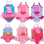 NWT Girls Kids Peppa Pig Bathing Swimsuit 2-6Y Bikini Tankini Swimwear Beachwear