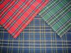 SCOTTISH TARTAN TABLECLOTHS, TABLE RUNNERS, PLACEMATS & NAPKINS. POLYCOTTON
