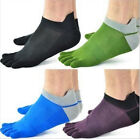 New Hot Men's Pure Cotton Sports Toe Socks Breathable Five Finger Socks 1 Pair-K