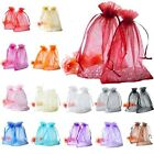 30/100pcs Variety Colors Organza Jewelry Packing Pouch Wedding Favor Gift Bags