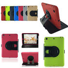 2 in 1 Silicon+PC Rotating Stand Case Cover Shell For Apple iPad 5 5th Air mini