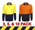 3 for $66 - 5 for $90 - 10 for $160 - 100% Cotton High Vis Long Sleeve Polo