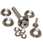 M5, A4 MARINE GRADE SOLID STAINLESS STEEL TURNED FULL BODY SCREW CUP WASHERS