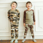 "2Pcs Vaenait Baby Infant Toddler Kid Boy Indoor Clothes Sleepwear Pyjama""Camo"""
