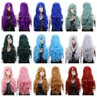 "Women Anime Sweet Cosplay 9 Colors 32"" Long Curly Hair Full Hair Wigs +Free Cap"