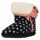 Girls Clarks Polka Dot Bootie Slippers Sleep Walk