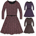 Girls Floral Skater Dress Kids Party Dresses Long Sleeve New Age 7 - 13 Years