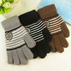 Wholesale fashion lovely warm thick cashmere knitted stripe gloves