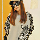 Womens Ladies Long Sleeve Jerseys Korean Zebra Casual T-shirts New Fashion Sweat