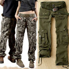 Fashion  Damenmode Cotton Pants Frauen Mesh Camouflage Military Cargo Hose